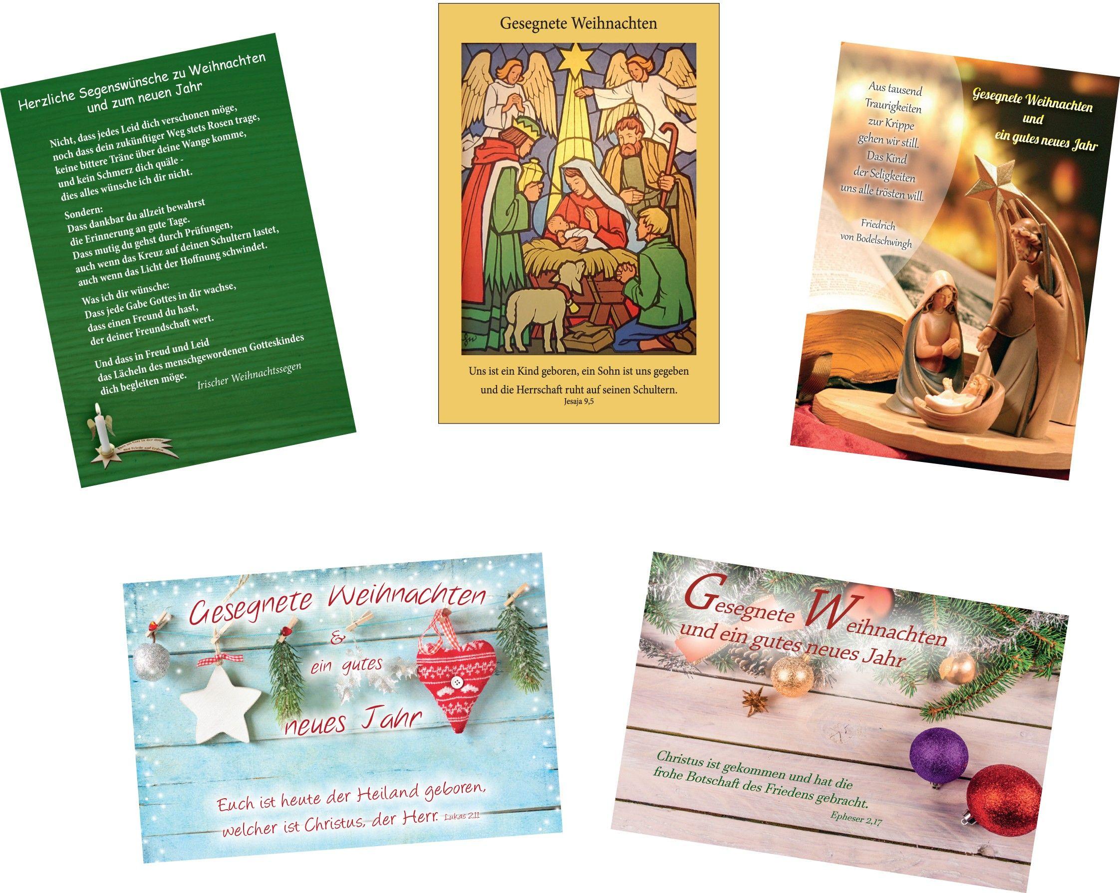 Postkarten - Weihnachten 10er Set