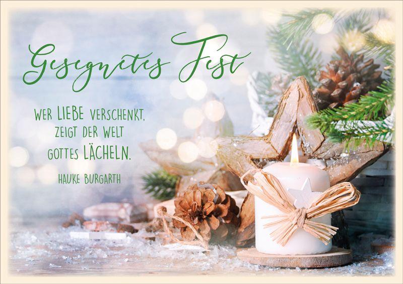 "Faltkarte ""Gesegnetes Fest"""