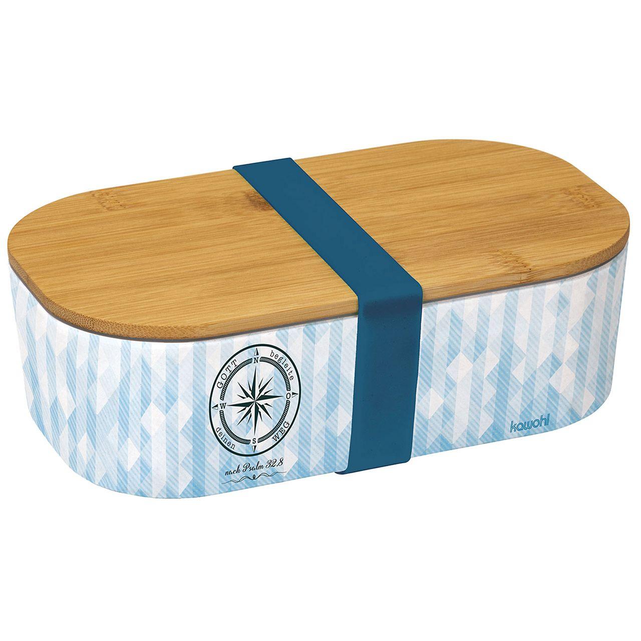 "Lunch-Box: ""Gott begleite deinen Weg"" (Bambus)"