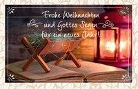 Tee-Postkarte -Frohe Weihnachten...