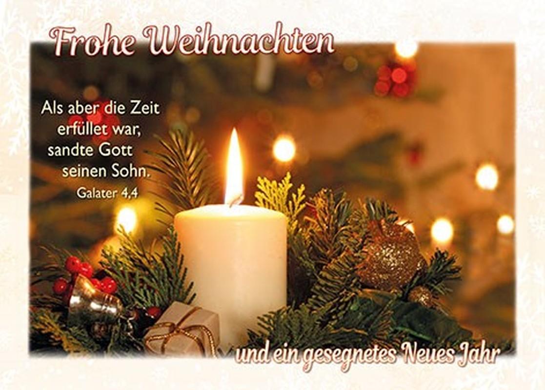 Postkarten Weihnachten/Neujahr, 6 Stück
