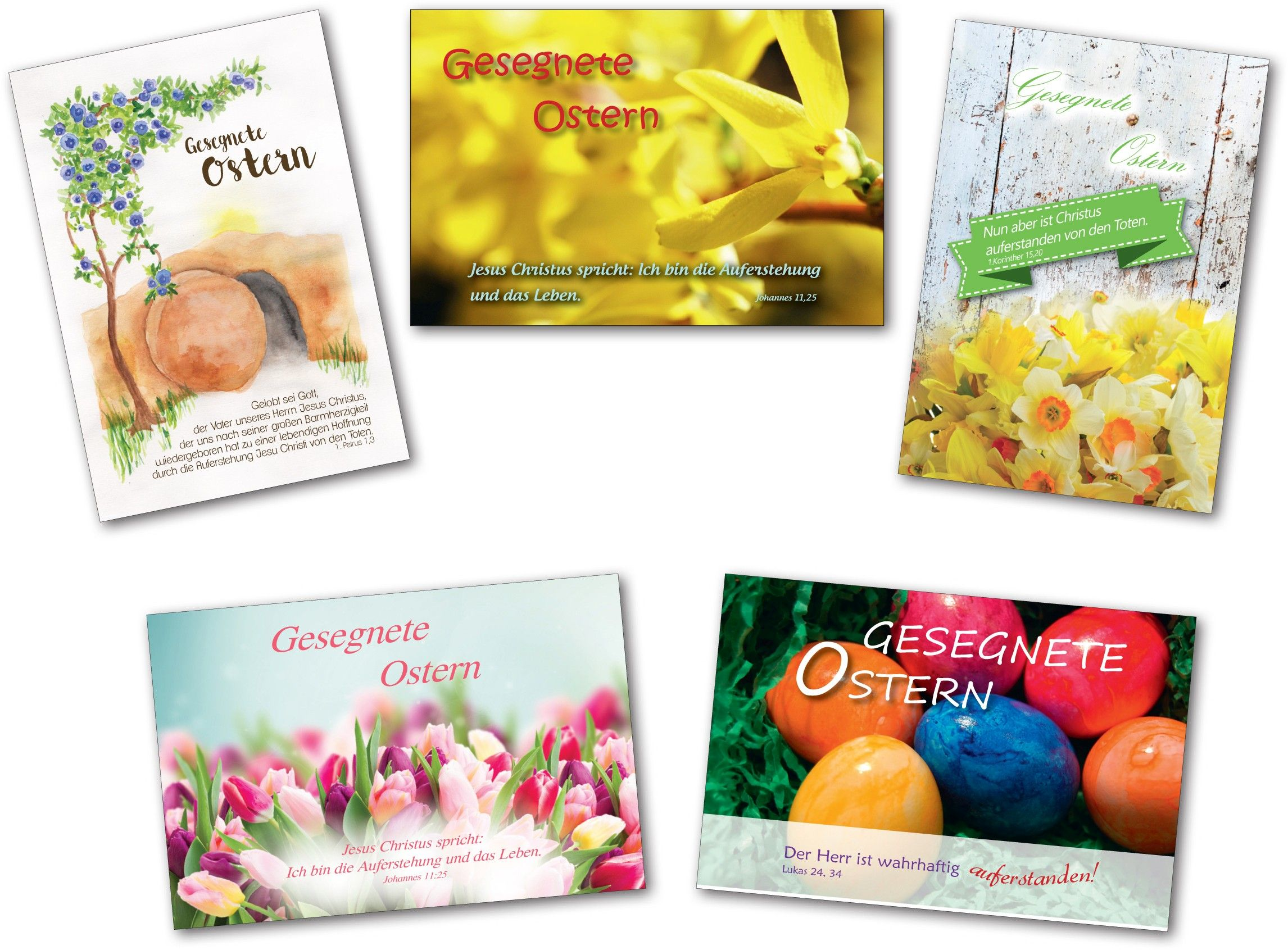 Postkarten - Ostern 10er Set