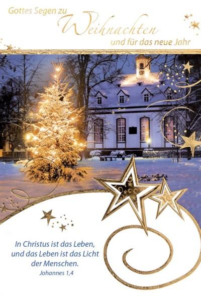 Faltkarte - Weihnachten Johannes 1,4