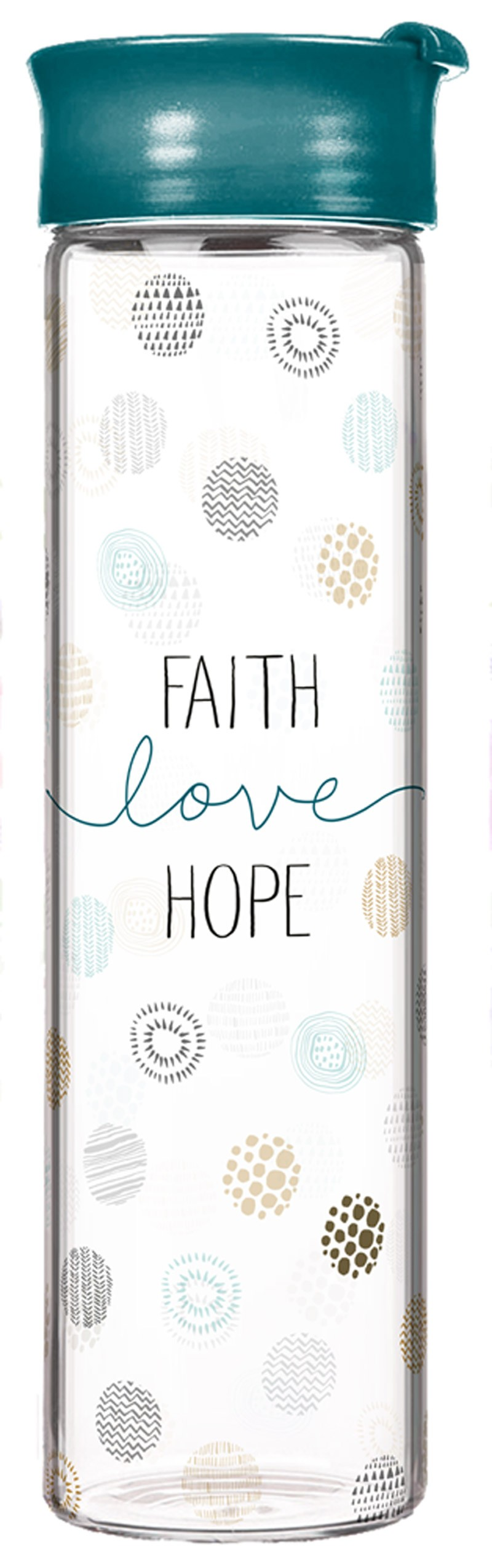 "Glasflasche ""Faith-Love-Hope"""
