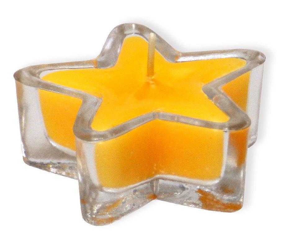 """Kerzenglas """"Stern"""" - gelb"""