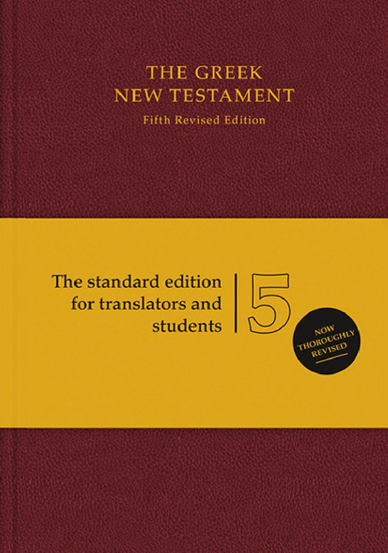 The Greek New Testament - Standardausgabe rot