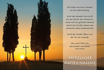 Faltkarte: Wir leben aus dem Glauben - Trauer