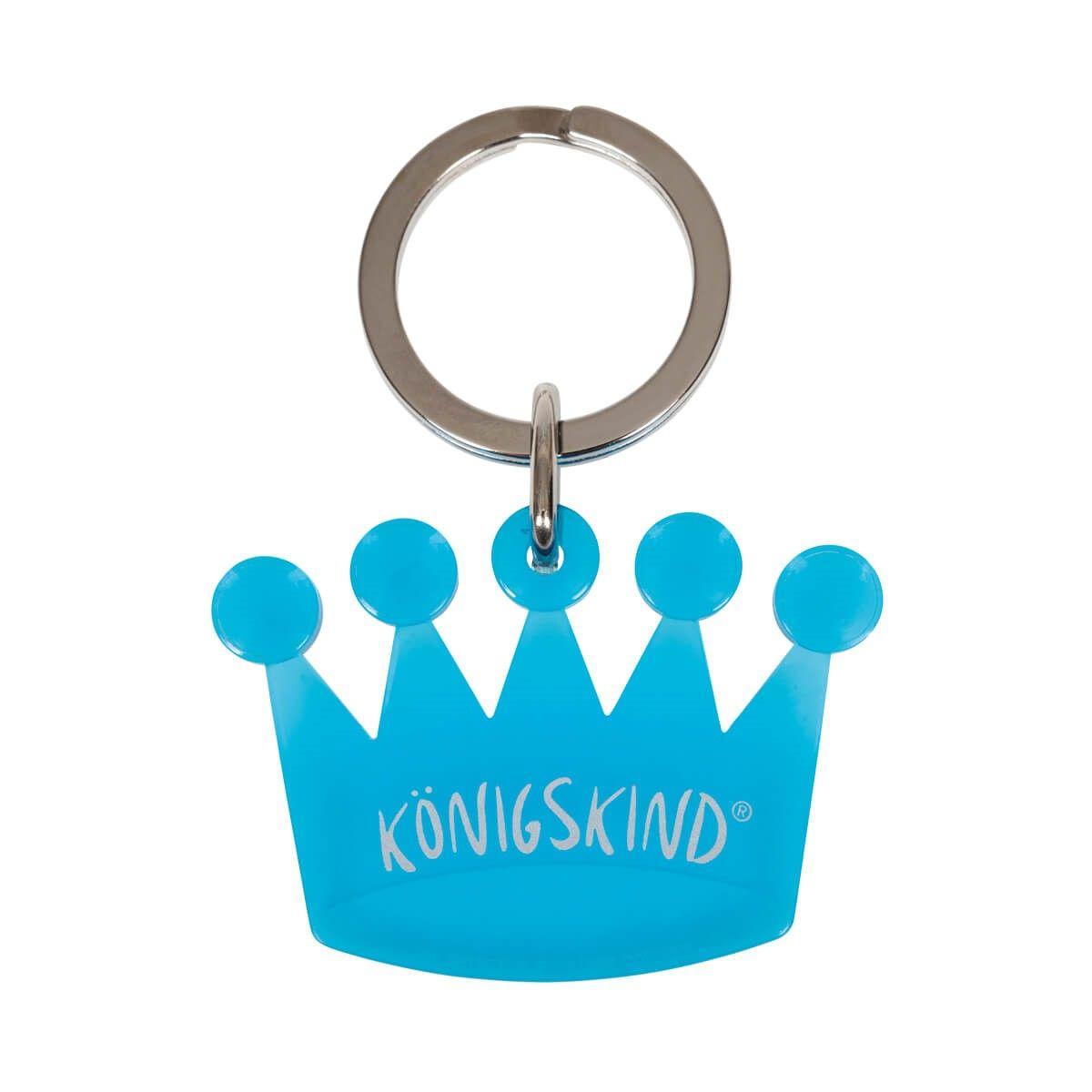 """Schlüsselanhänger """"Krone-Königskind"""" blau-türkis"""