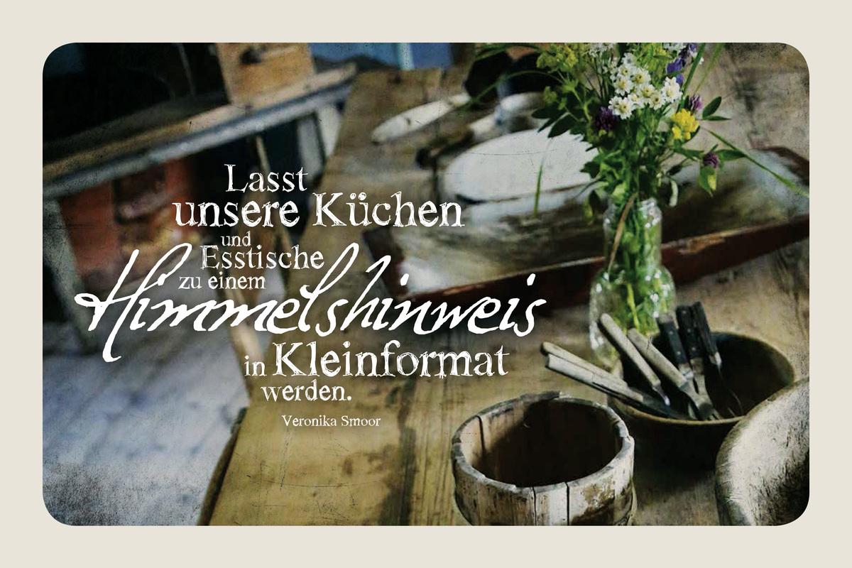 """Leinwand Tischgemeinschaft """"Himmelshinweis"""""""