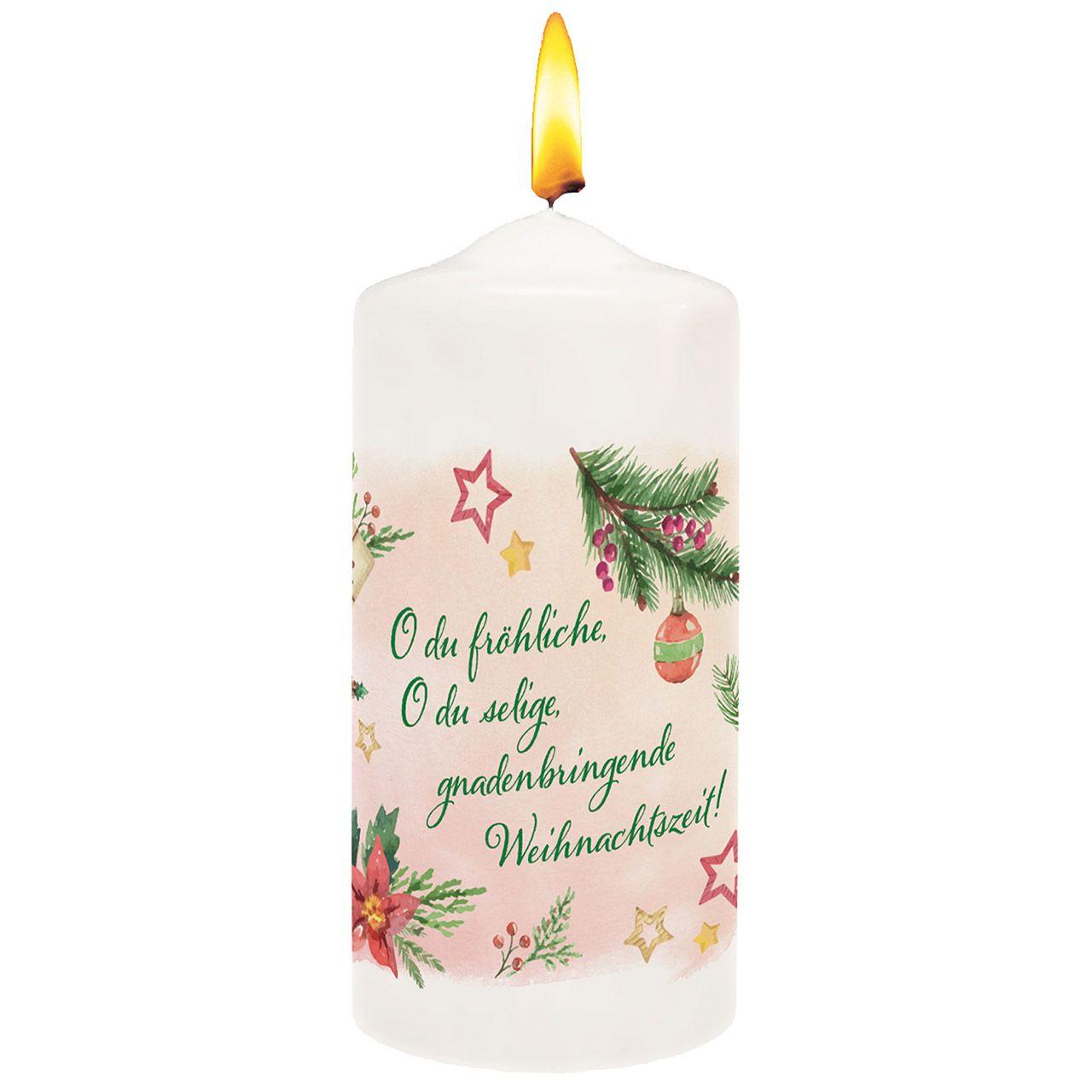 """Kerze """" O du fröhliche"""""""