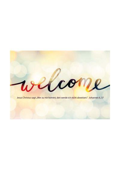 """Jahreslosung 2022 - Postkarten """"Welcome"""" 10er Set"""