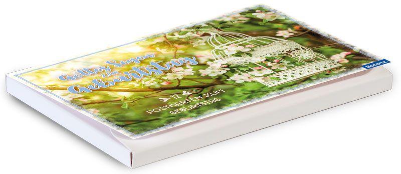 """Postkartenbox Geburtstag """"Vogelkäfig"""""""
