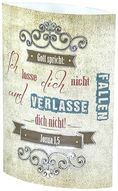 """LED-Papierlampe """"Gott spricht: Ich lasse dich"""""""