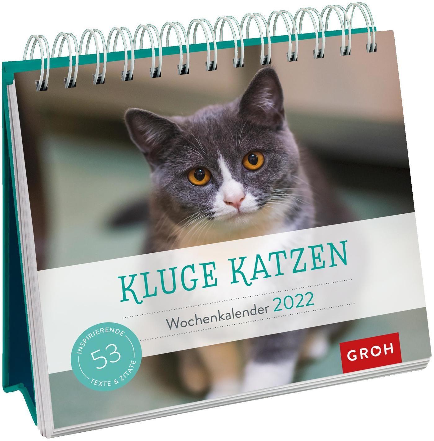Kluge Katzen 2022 - Wochenkalender