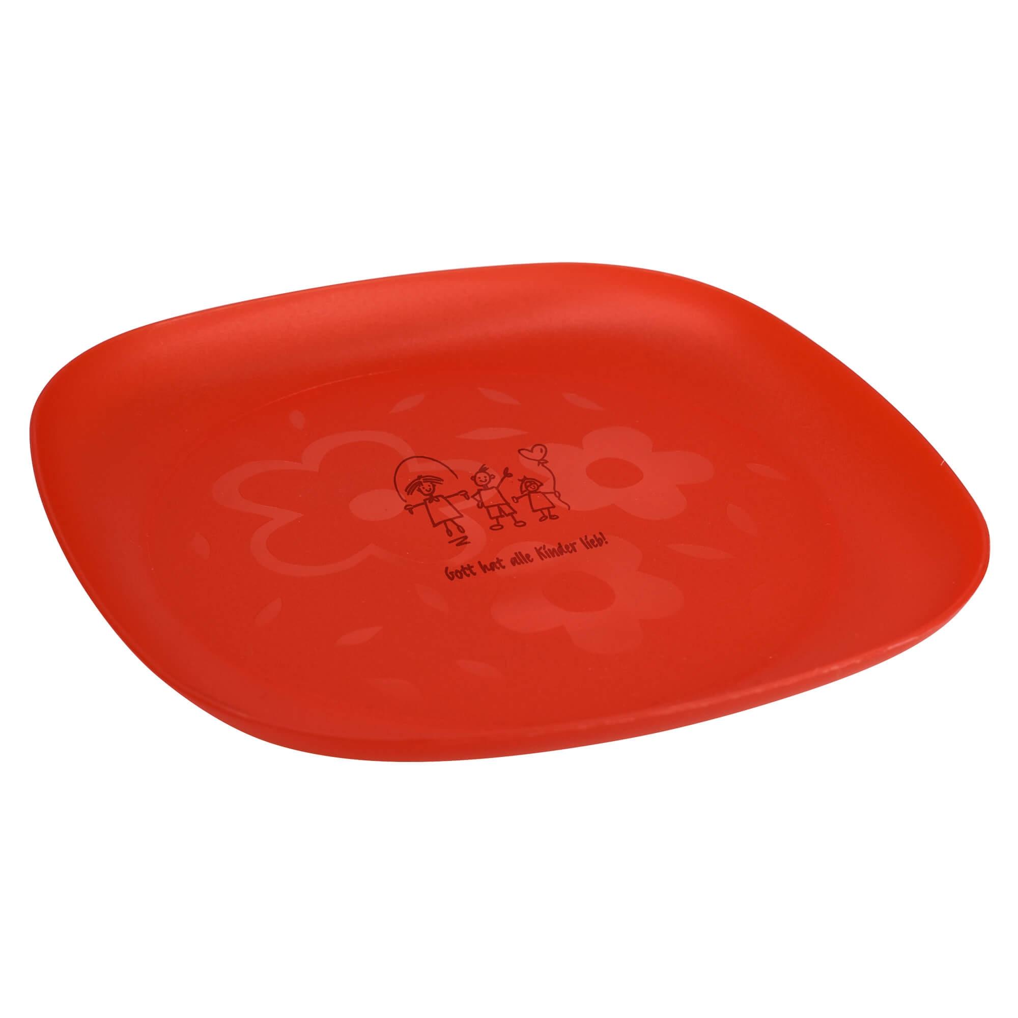 Kinder-Teller rot