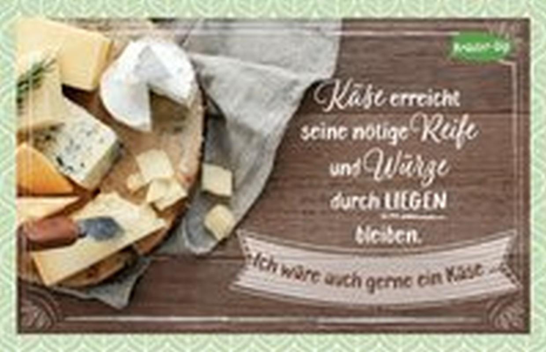 Kräuter-Dip-Postkarte - Käse erreicht seine nötige Reife und Würze