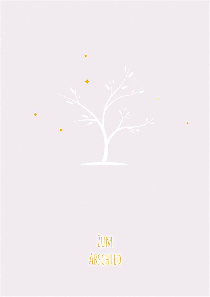 """Faltkarte """"Baum ohne Blätter"""" - Trauer"""