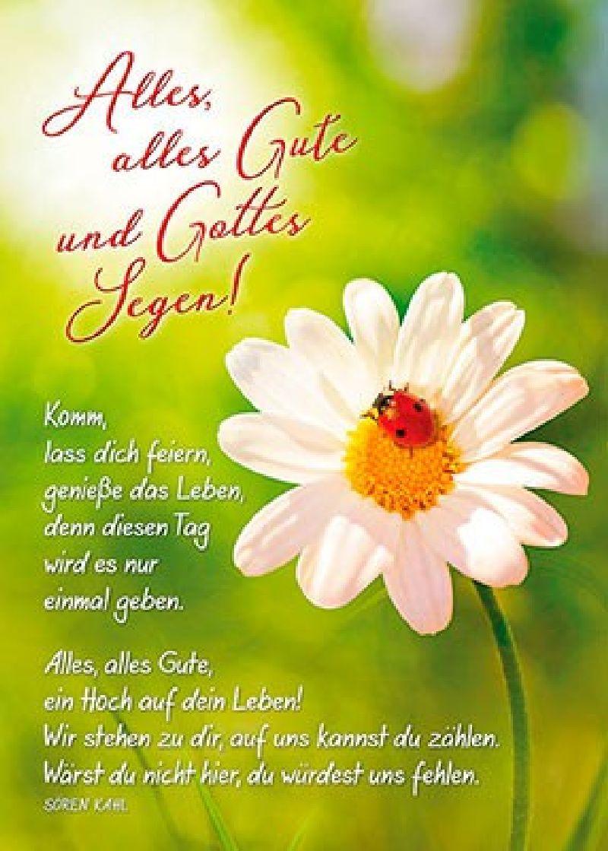 Postkarten: Alles, alles Gute und Gottes Segen, 4 Stück