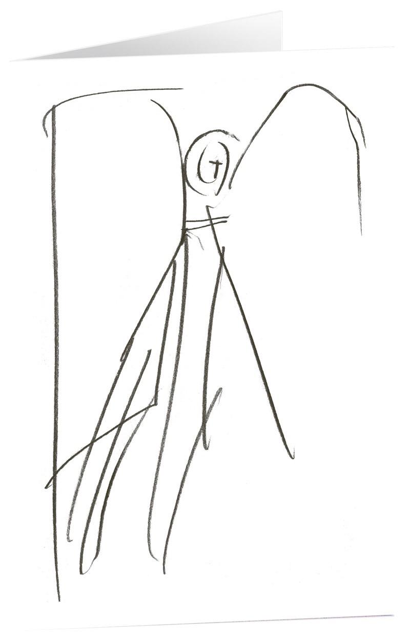"""Kunstkarten """"Bote der Zuversicht"""" - 5 Stk"""