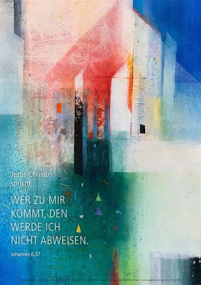 Jahreslosung 2022 - Kunstblatt 40 x 60cm