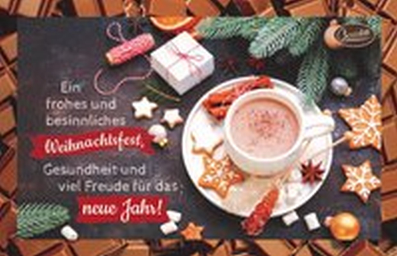 Schokokarte - Ein frohes und besinnliches Weihnachtsfest,