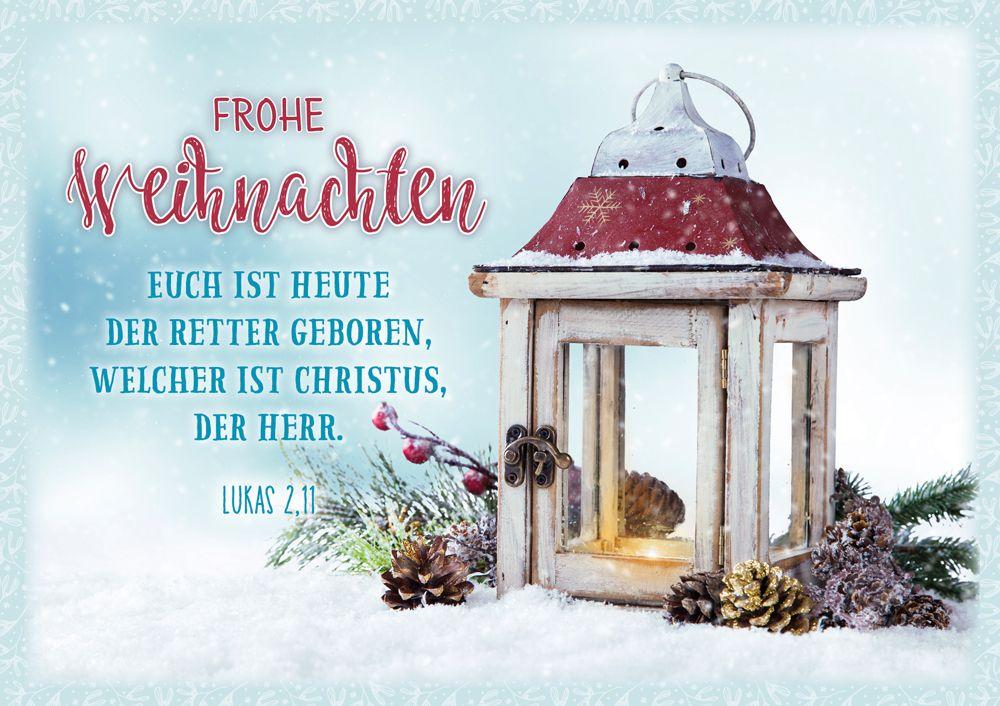 """Faltkarte """"Frohe Weihnachten - Holzwindlicht"""""""