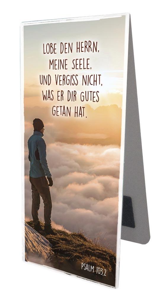 """Magnetlesezeichen - """"Lobe den Herrn"""""""