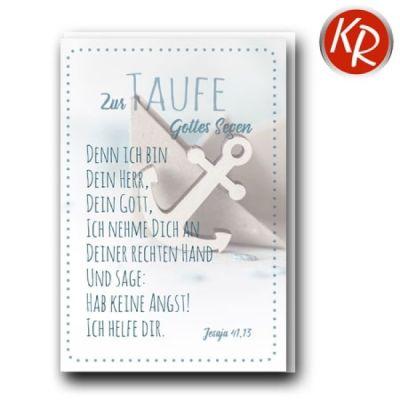 Faltkarte - Taufe Jes.41,13