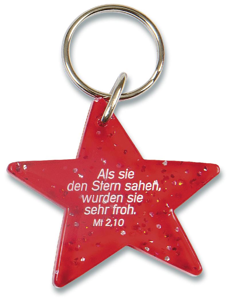 """Schlüsselanhänger """"Stern"""" - rot"""