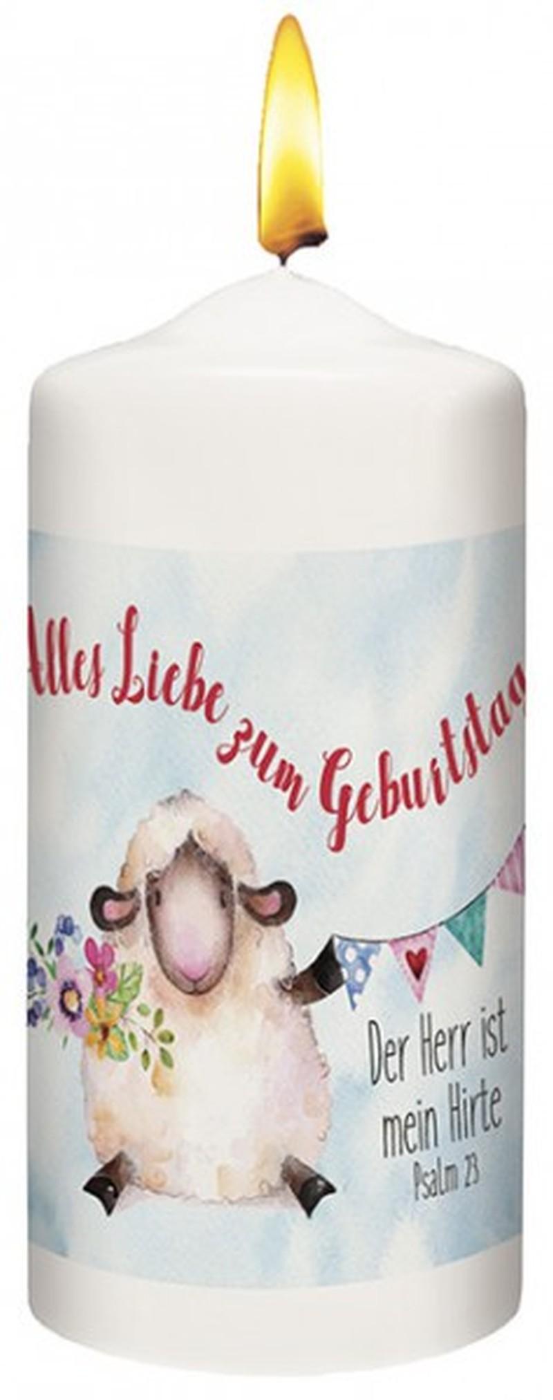 """Kerze """"Alles Liebe zum Geburtstag"""""""