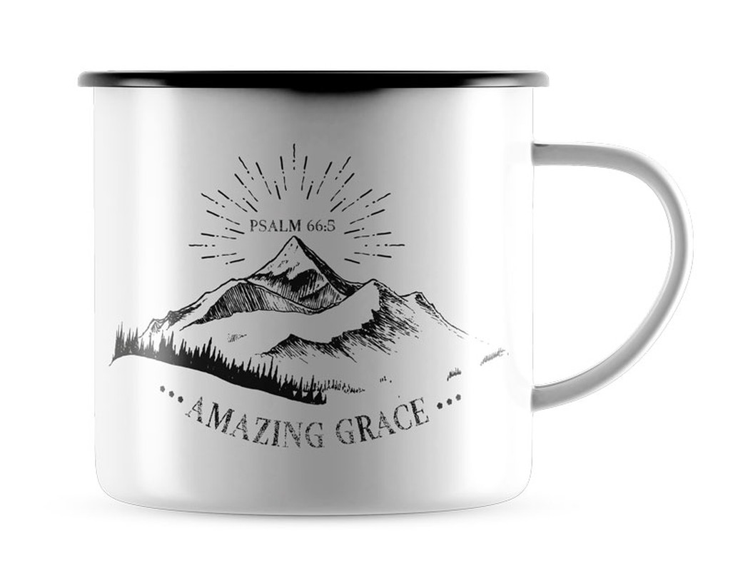 """Emaille-Becher """"Amazing Grace"""""""