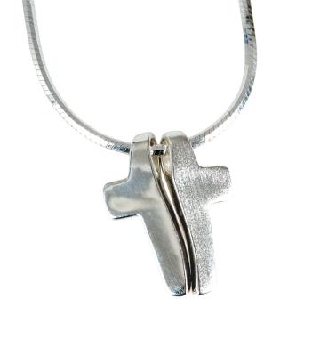 """Halskette """"Kreuz"""", 2-teilig"""