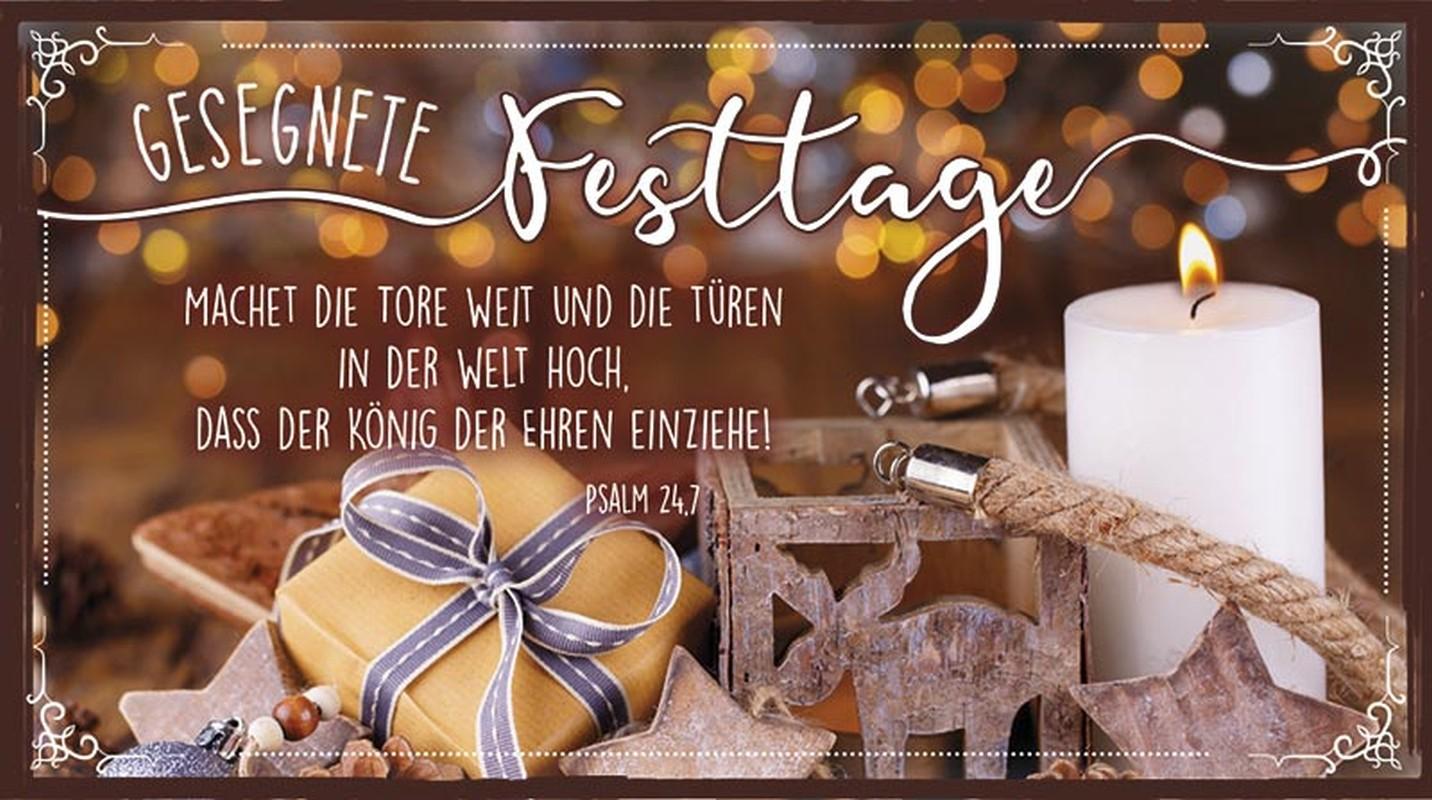 """Schokoladengrüße """"Gesegnete Festtage"""" (40g)"""