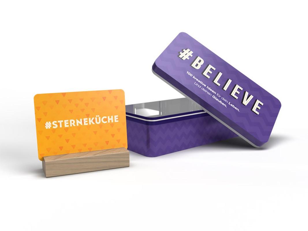Blechdose - #believe