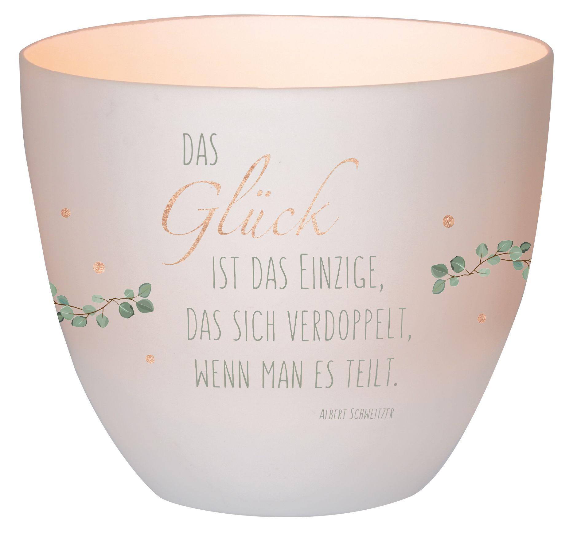"""Windlicht LichterZeit """"Glück"""""""