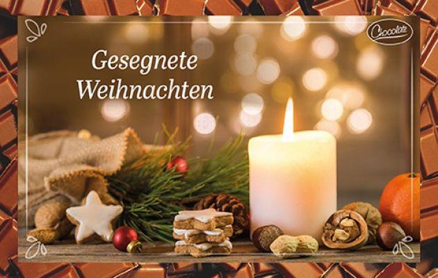 Schokokarte - Gesegnete Weihnachten