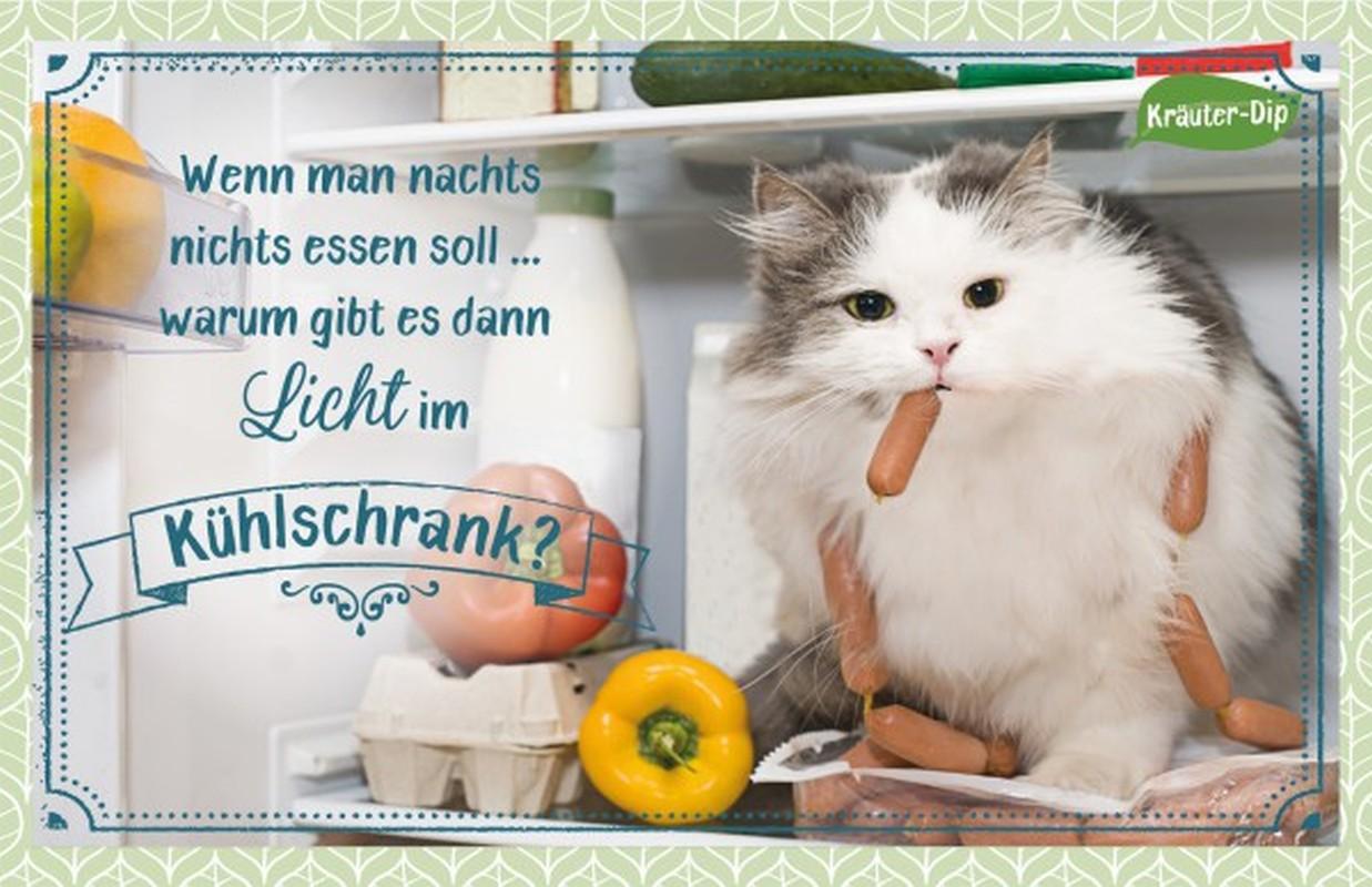 Kräuter-Dip-Postkarte - Wenn man nachts nichts essen soll ...