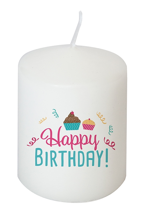 Kerze - Happy Birthday!