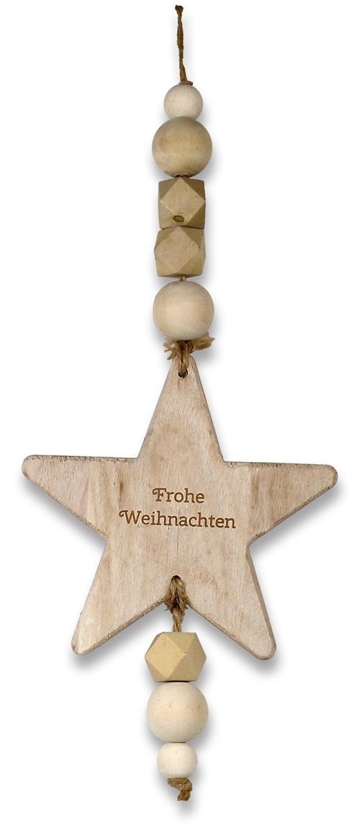 """Deko-Anhänger Stern """"Frohe Weihnachten"""""""