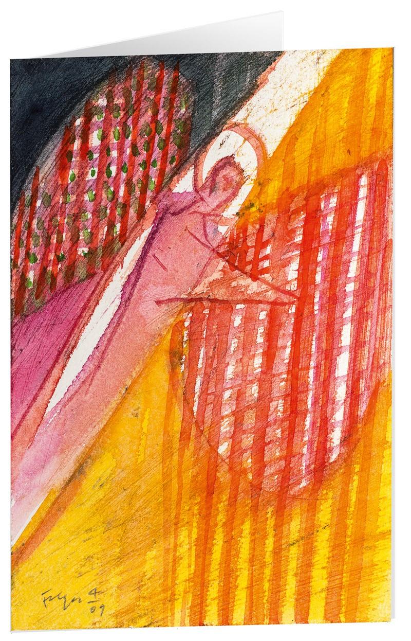"Kunstkarten ""Vom Engel beschützt"" - 5 Stk"