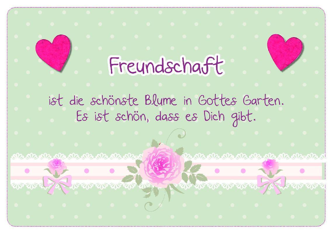 Freundschaft - Faltkarte