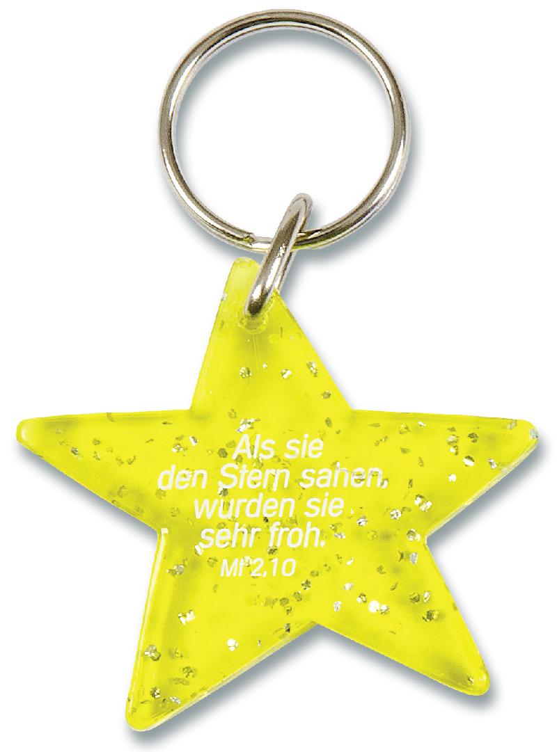 """Schlüsselanhänger """"Stern"""" - gelb"""